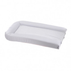 Matelas langer PVC+2 éponges amovibles 42x70cm - Blanc