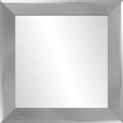 Miroir - 66x66 cm - Gris argenté