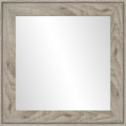 Miroir Ds - MDF -  50x50 cm - Marron