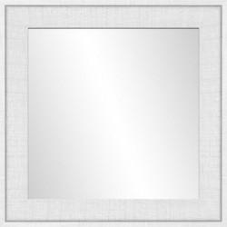 Miroir Ds - MDF -  50x50 cm - Blanc