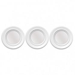 Lot de 3 miroirs ronds abstraits - Ø 25 cm - Blanc