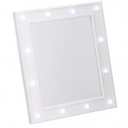 HOLLYWOOD Miroir avec éclairage LED 32,5x27,5x2,5 cm
