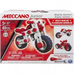 MECCANO JUNIOR Super Motos 3 modeles en 1 - Jeu de construct