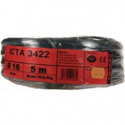 JANOPLAST Gaine ICTA avec tire fil 5 m - Diametre 16 mm