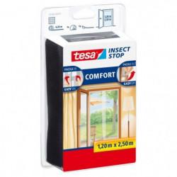 TESA Moustiquaire Comfort pour portes 2 x 0,65 x 2,5 m - Bla