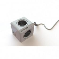 CHACON Multiprise Powercube 3 prises 16A avec 2 Usb 1,5m gri