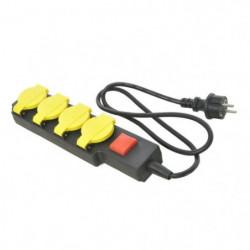 Bloc multiprises extérieur avec interrupteur - Câble noir 1