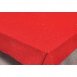 SUCRE D'OCRE Nappe de table STRASS 180x180 cm - Rouge