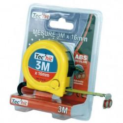TEC HIT Metre enrouleur 3 metres ABS bi-color