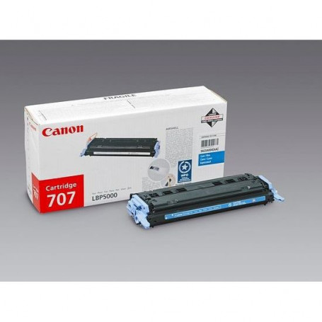 CANON Pack de 1 cartouche de toner - 707 - Cyan