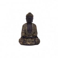 Bouddha assis - 24 cm - Noir et doré