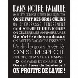 FAMILY Image contrecollée 40x50 cm Les regles de la famille