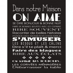 A LA MAISON  Image contrecollée 40x50 cm