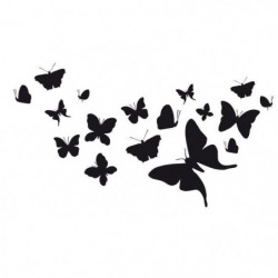WALL IMPACT Stickers Papillons - 63x35x1 cm - Vinyle calandr