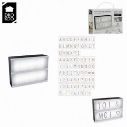 THE HOME DECO LIGHT Boite lumineuse a message - A5 Caractere