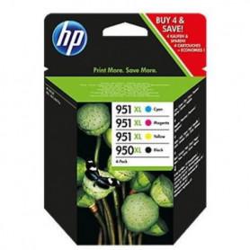 HP 950XL/951XL Pack de 4 cartouches d'encre Noire