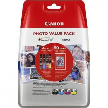 CANON Pack cartouches d'encres photo CLI-551XL
