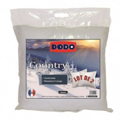 DODO Lot de 2 Oreillers COUNTRY 60x60cm