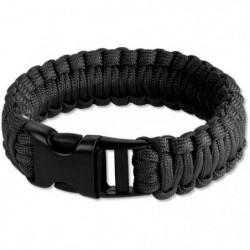 VIRGINIA Bracelet de survie en corde de nylon - Noir