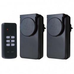 FLAMINGO Kit 2 prises télécommandées pour usage extérieur et