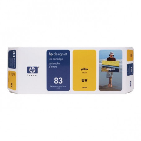 HP Cartouche d'encre UV 83 Jaune
