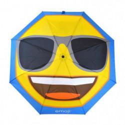 EMOJI Parapluie Long Lunettes de Soleil - 152 cm - Bleu et J