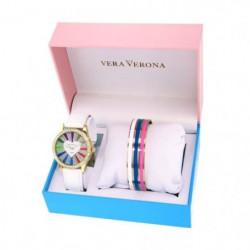 VERA VERONA - MWF16/079 - Coffret Montre Dame + 3 Bracelets