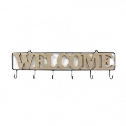 THE HOME DECO FACTORY Patere Welcome M12 - 6 crochets