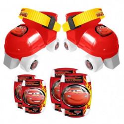 CARS Set Patins a Roulettes ajustables 23 a 27 et Protection