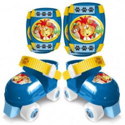 STAMP Patins a Roulettes avec Coudieres/Genouilleres - Bleu