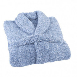 JULES CLARYSSE Peignoir Soft - S/M - 100% polyester - Bleu