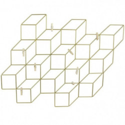 THE HOME DECO FACTORY Pele-mele - Cubes filaires Or - 8 Pinc
