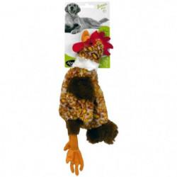 AIME Jouet mini poule plate 32cm - Pour chien