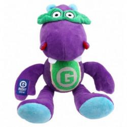 BUBIMEX Agent hippo, peluche et balle de tennis - 33 cm - Po