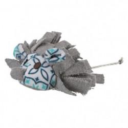 TRIXIE Souris avec pompons - Peluche et tissu - 8 cm - Pour