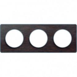 SCHNEIDER ELECTRIC Plaque 2 postes Odace Touch bois liseré a