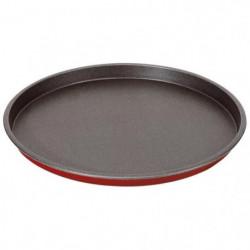 IMF Plaque a pizza en acier Rioja - Ø 31 cm - Rouge et gris