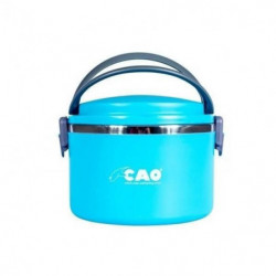 CAO CAMPING Lunch box isotherme Ronde - 1 L - Bleu