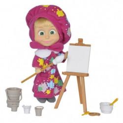 MASHA & MICHKA Simba Poupée Peintre 12cm