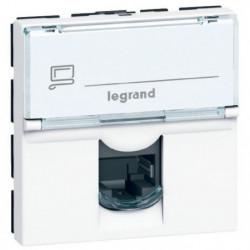 LEGRAND Prise RJ 45 informatique-téléphone 2 modules Mosaic