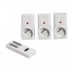 CHACON Kit de 3 prises télécommandées on/off avec télécomman