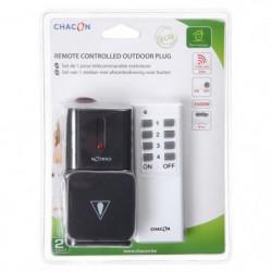 CHACON Kit 1 prise extérieure télécommandée avec télécommand