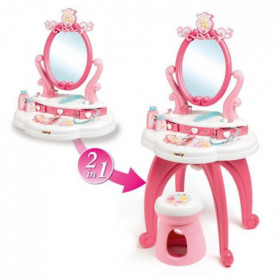DISNEY PRINCESSES Smoby Coiffeuse 2 en 1 + Acs