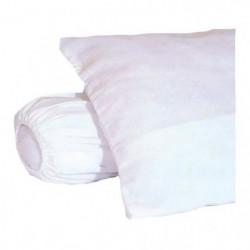 Sous-taie d'oreiller molleton 100% coton gratté 60x60 cm bla