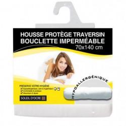 SOLEIL D'OCRE Sous taie protege traversin bouclette 70x145 c
