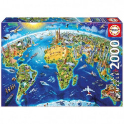 EDUCA - Puzzle Symboles du Monde 2000pcs