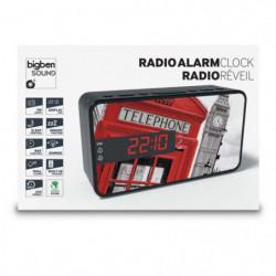 BIGBEN RR15TB2 Radio Réveil - Décor téléphone box 2