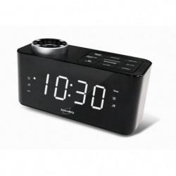 INOVALLEY RV18 Radio réveil projecteur - Noir