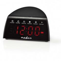 NEDIS CLAR006BK Radio-Réveil Numérique - Chargeur de Télépho