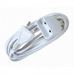 VOLTMAN Rallonge électrique - 6A - 2m - Blanc